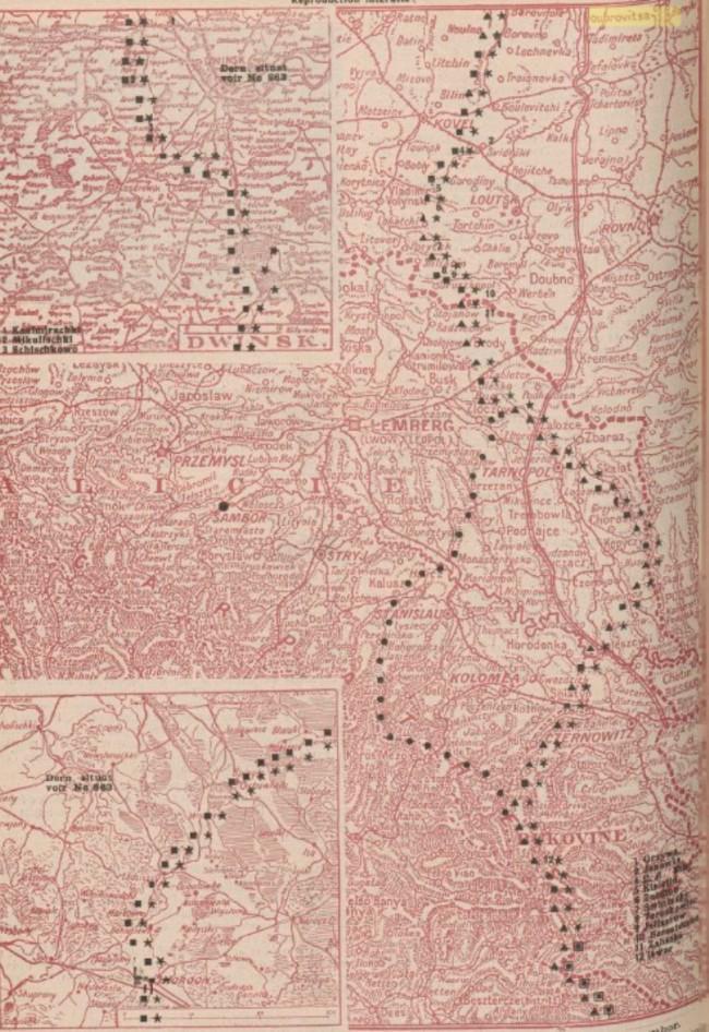Harta frontului 1917 iulie 30 La Guerre mondiale 31 iulie 1917