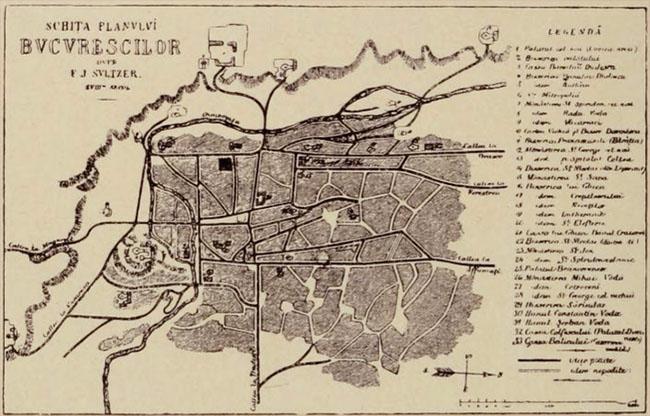 Harta Bucureştilor, de Sulzer