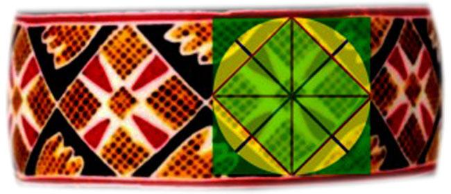 Triunghiurile solstiţiare şi romburile, pe oul încondeiat