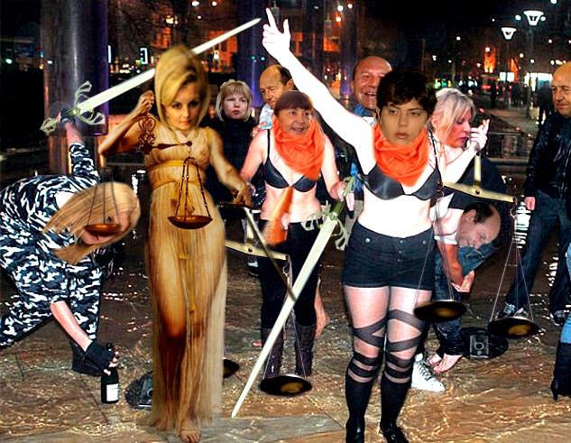 JUSTIŢIE ROMÂNESCĂ: Sentinţe, în cazuri identice, care diferă de la o instanţă la alta, români aflaţi la cheremul unor dame drapate în negru...