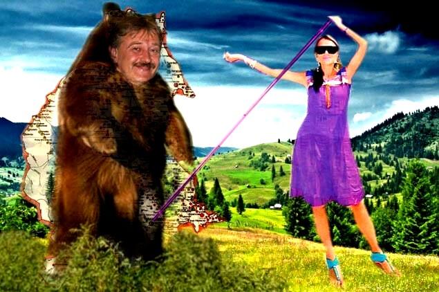 """Primarul Marius Ursaciuc: Bine aţi venit la Gura Humorului, în inima Bucovinei! Senatoarea """"sexi"""" Vasilica Steliana Miron: Vai, domnule primar, întotdeauna am bănuit că şi dumneavoastră aveţi inima exact aici, la... Gura Humorului!"""