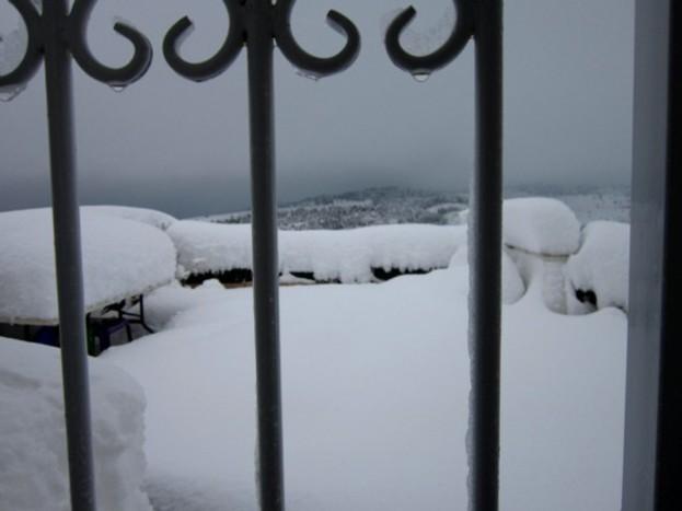 Sfântul Ierusalim, înfăşurat în zăpezi
