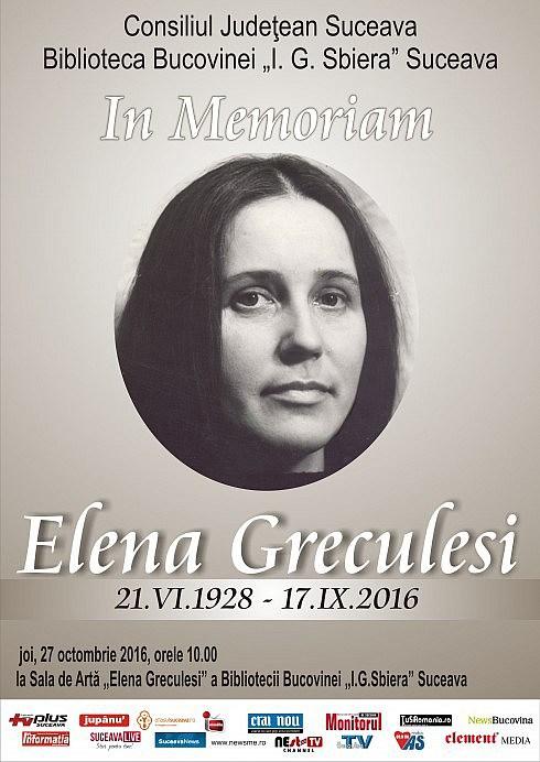 In Memoriam Elena Greculesi