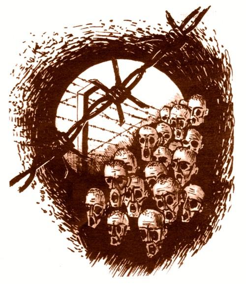 Golgota Românilor - desen de Radu Bercea