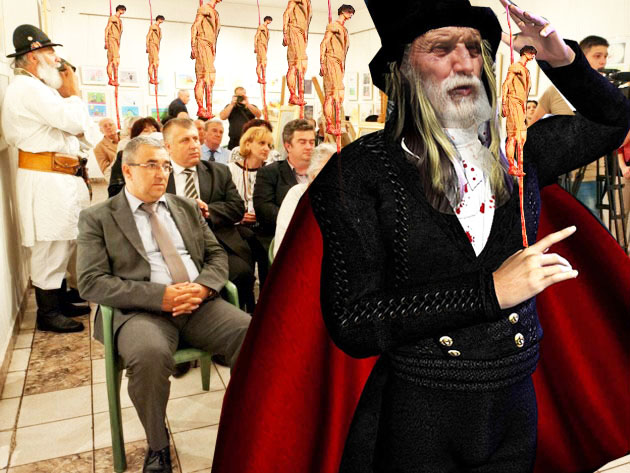 ÎPS Pimen Surceveanul: Sinescule şi Nechifore, aşa vreau să-mi conduceţi judeţul: cu ţepe! Prefectul Sinescu şi Preşedintele Nechifor: Am înţeles, Întunecimea Ta!