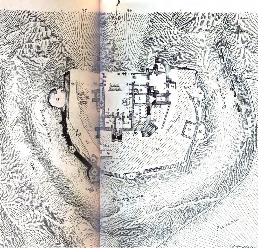 Planul Cetăţii Suceava - în Raimund Friedrich Kaindl