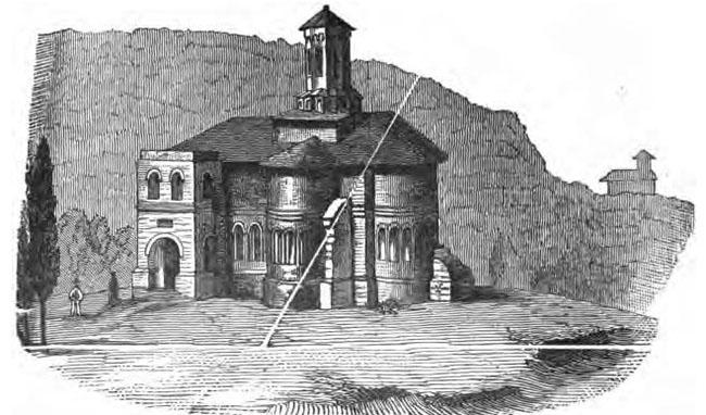 Biserica Mirăuţi, în timpul reconstrucţiei, săvârşită de Romstorfer