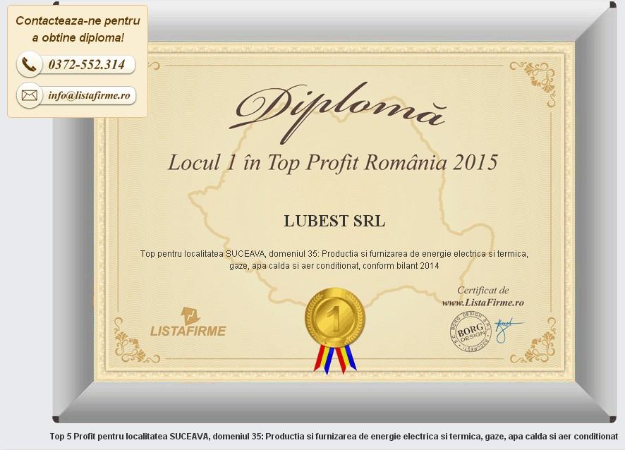 LUBEST Diploma 2015