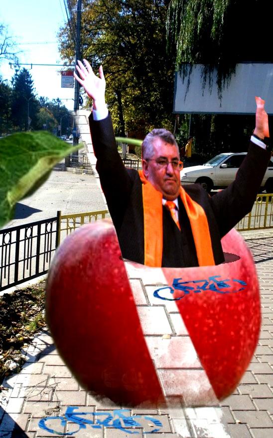 Primarul Sucevei, Ion Lungu: Dragi suceveni, să vă spună intermediul Biholaru Teve dacă nu-s curat ca un măr, când vă miluiesc cu găluşte!...