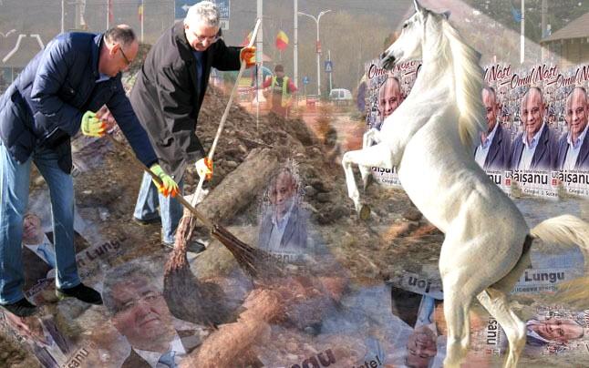 """Ion Lungu: Domnu' deputat Băişanu, mătură mai îndesat şi nu mai fluiera, atâta, """"La calu' Balan"""", că ne-o prezis mie o bătrână, pentru o porţie de găluşte dată de pomană, că de amândurora ni se trage sfârşitul de la calu'... Balan!"""