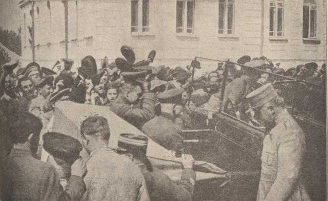 La Guerre mondiale 1 august 1917 Kerensky vizitând frontul rasaritean