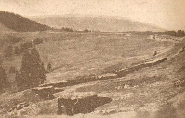 La Guerre mondiale 17 august 1917 Pozitii austriece în apropiere de Vatra Dornei