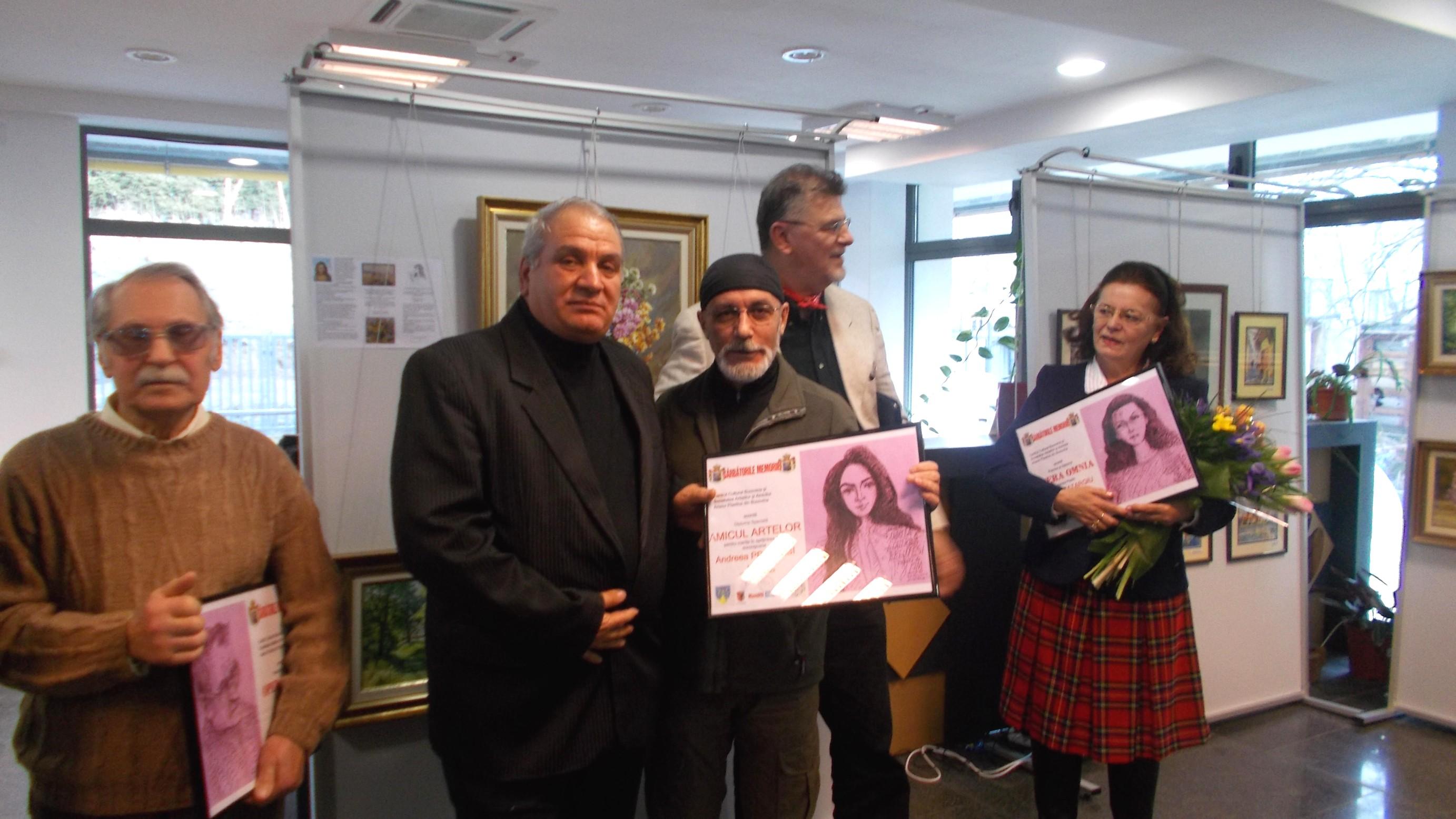 Dimitrie Savu şi Doina Catargiu, încadrându-l pe Amicul Artelor, Nicolai Preutesi