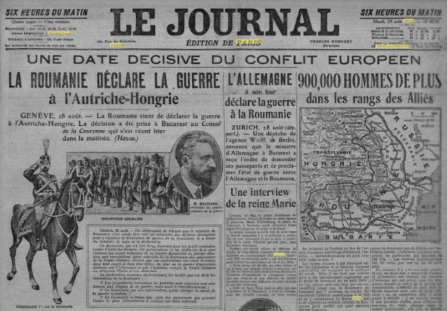 Le Journal, 28 august 1916
