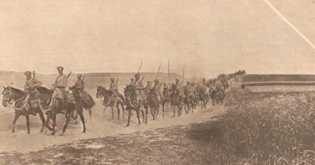 Le Miroir 13 august 1916 Cazaci avansând în Bucovina