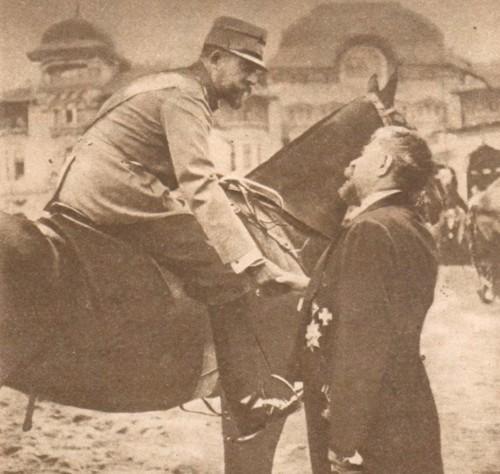 Regele Ferdinand, în ţinută de război şi Ionel Brătianu - Le Miroir, 17 septembrie 1916