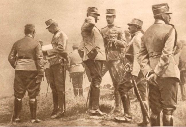 Le Miroir, 17 septembrie 1916: Regele Ferdinand, Prinţul Carol şi Statul Major al Armatei
