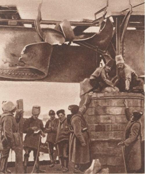 Le Miroir 9 mai 1915 Rusi aruncând în aer podul din Câmpulung