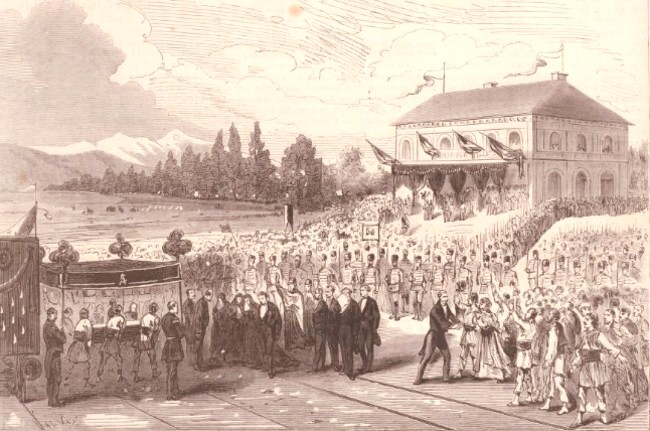 Le Monde illustré 2 aug 1873 Înmormântarea lui Cuza la Ruginoasa