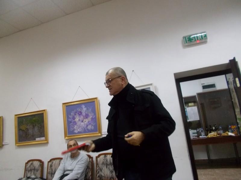 Mihai Pânzaru-PIM, vorbindu-le discipolilor regretatei Gica Pânzaru