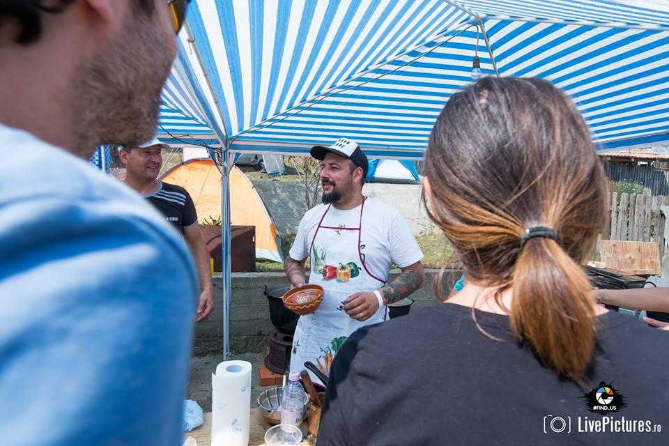 Lucian Csibi, de la RELATIVE şi de la BUCOVINA ROCK CASTLE, bucătar de ciobă rădăuţeană
