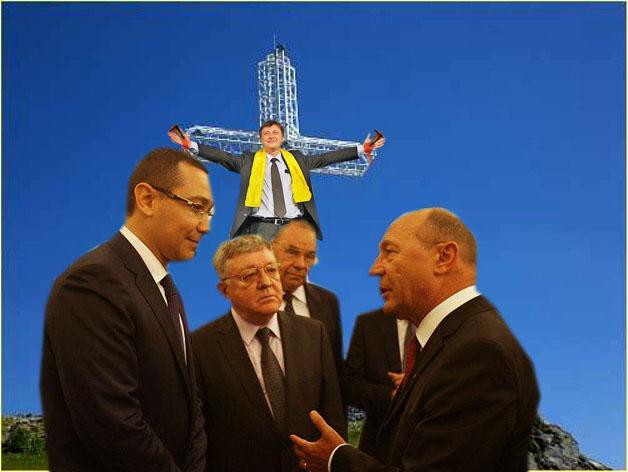 Traian Băsescu: Măi Victoraş, asta-mi place mie la tine, că eşti la fel de inteligent ca Mircea Geoană!