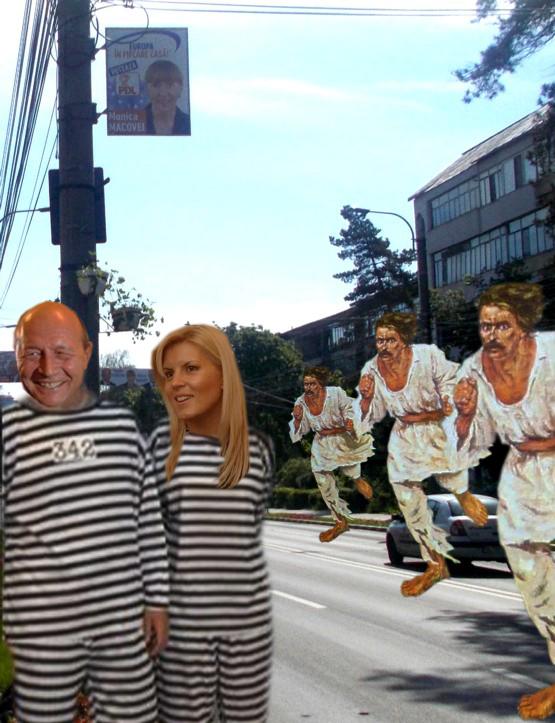 Elena Udrea: Traiane, eşti sigur că uniformele astea sunt marinăreşti sau încearcă Monica Macovei să ne tragă pe sfoară?