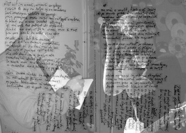 Manuscris poeme ilustrat