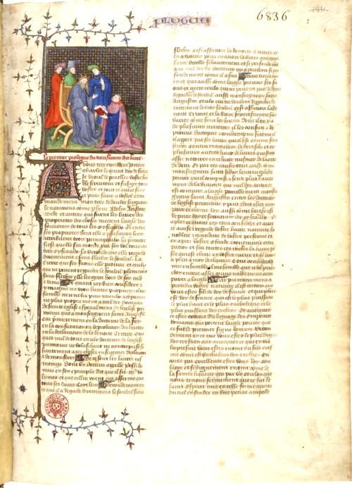 Manuscris al Sfântului Augustin