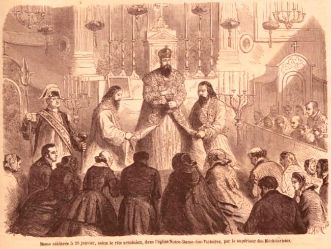 Mesa la Armeni Le monde illustre 4 febr 1860