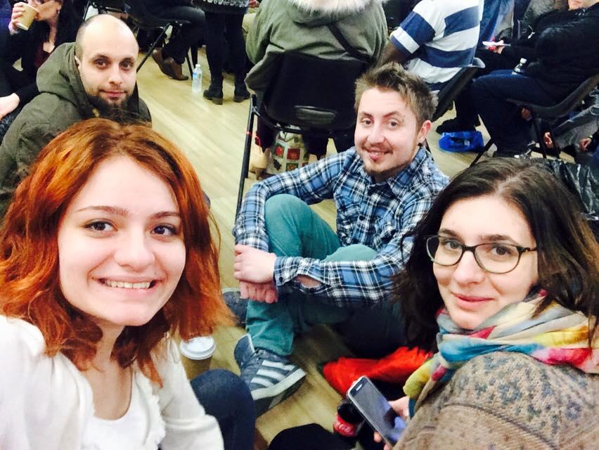 Surorile Miruna şi Andreea Savin, Dragoş Alexandru şi Andi, la spectacolul BBC