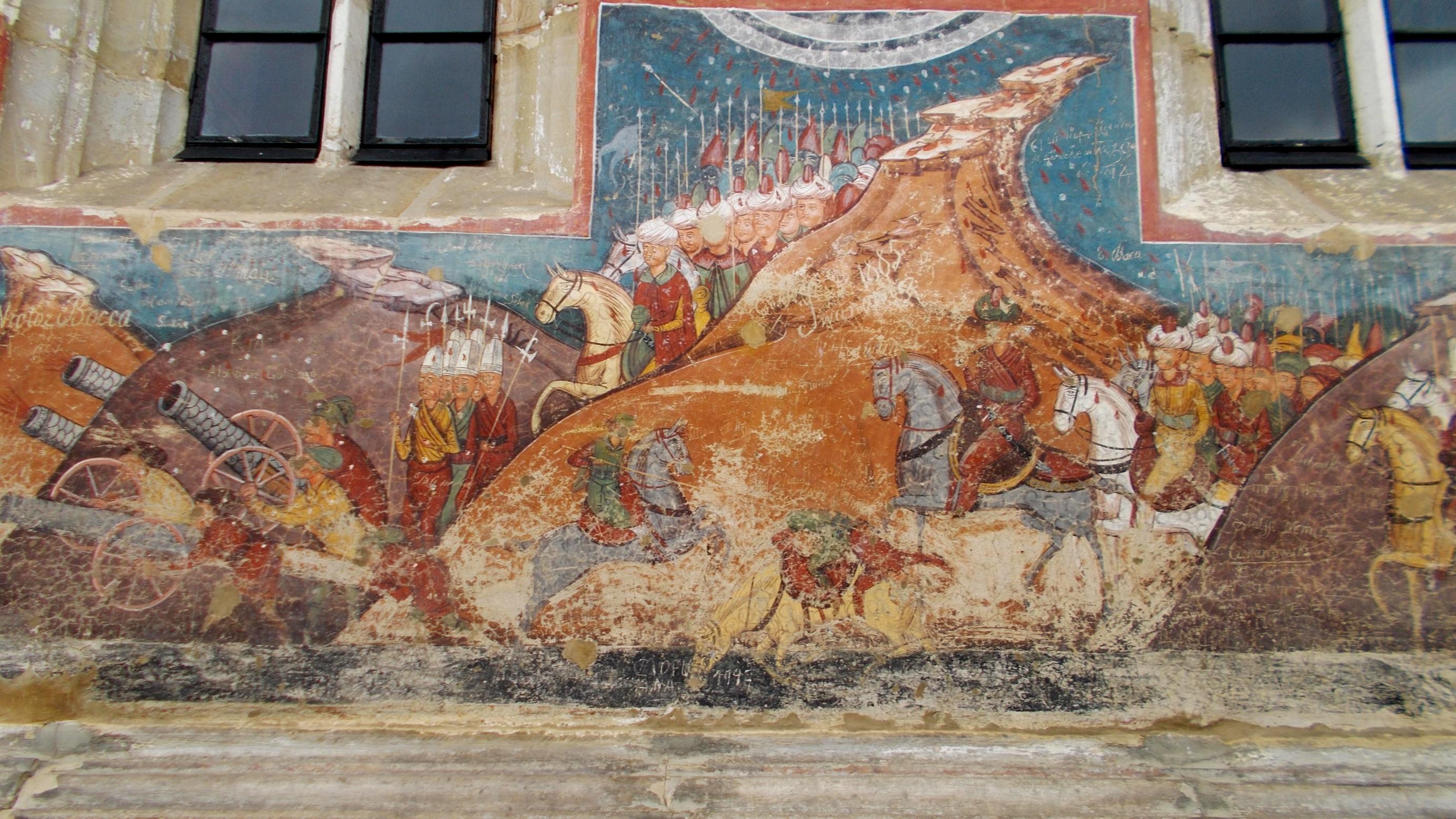 """""""Asediul Constantinopolului"""", fresca din dreapta"""