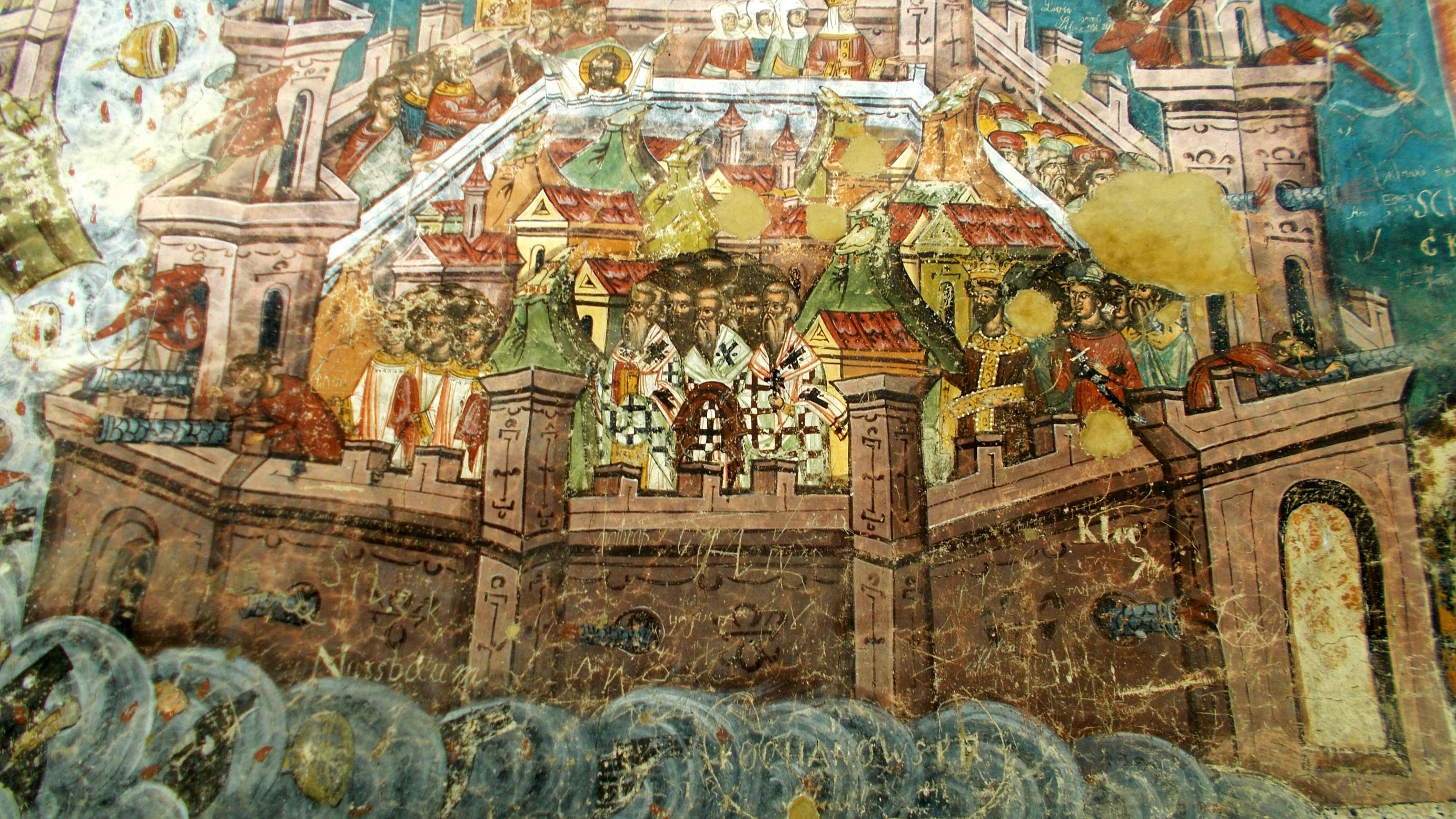 """""""Asediul Constantinopolului"""", cu goluri în frescă"""