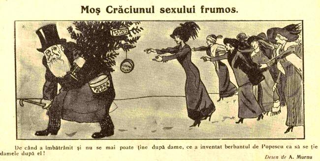 Mos Craciunul sexului frumos FURNICA 1912