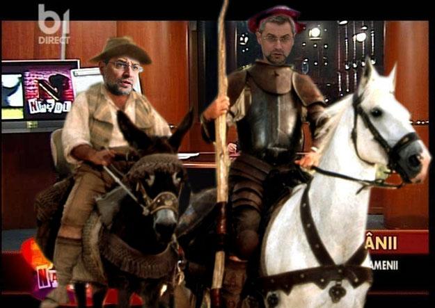 Don Quijote: Nu văd nici o moară de vânt... Asta înseamnă că ori le-a şutit Băsescu, ori le-a falimentat Ponta...