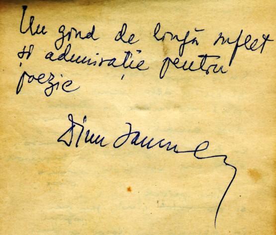 Autograf Dinu Ianculescu