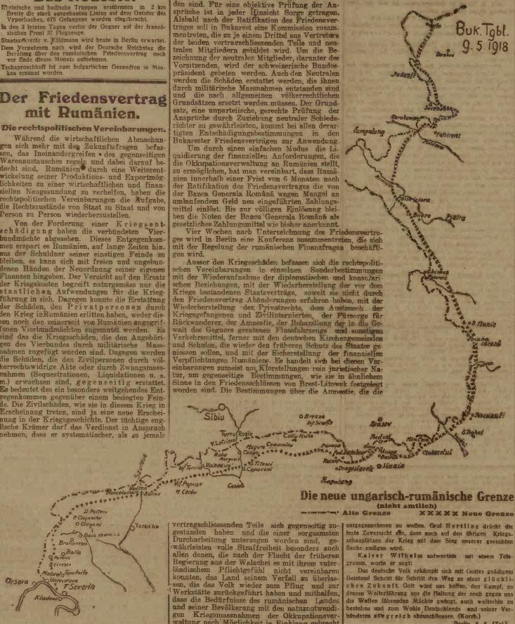 Noua graniță a ciuntitei Românii foarte mici