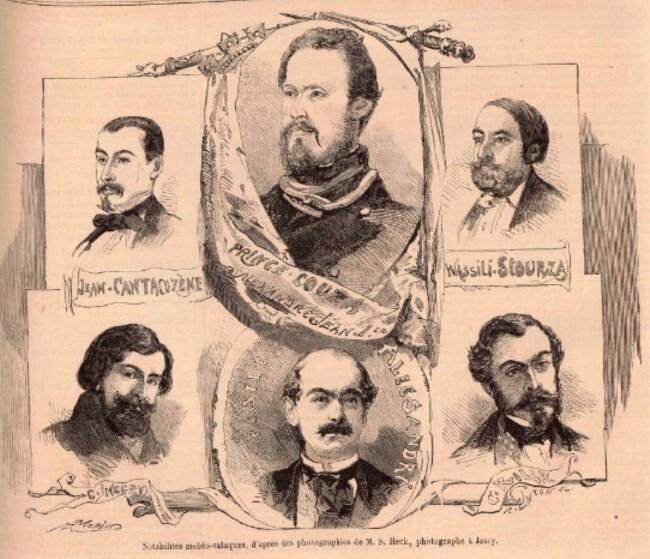 NuméroLe Monde illustré 15 martie 1859 Notabiulitati moldo valahe dupa o fotografie de S Heck fotograf din Iasi