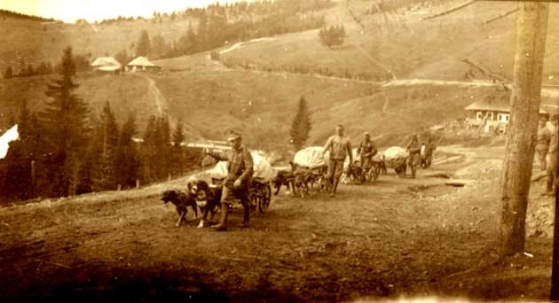Ostaşi austrieci, în obcinile bucovinene