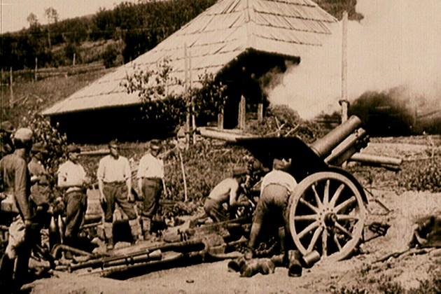 Baterie de tunuri austriacă
