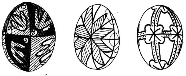 Ouă încondeiate în Bucovina şi în Galiţia