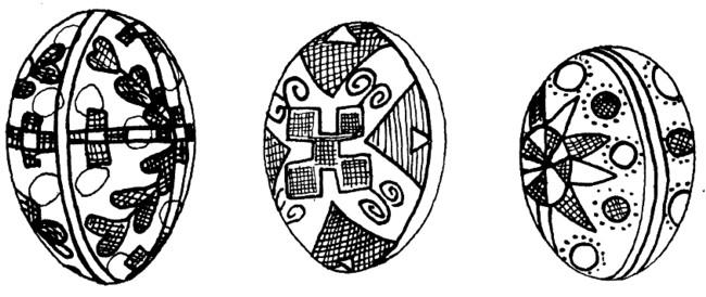Ouă încondeiate în Galiţia, la Jaworow
