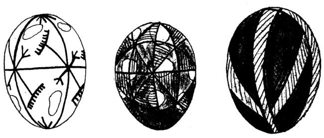 Ouă încondeiate şi pictate la Vijniţa, în 1899