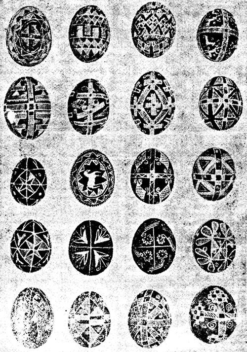 Ouă de Paşti din Basarabia - Universul literar, 1924