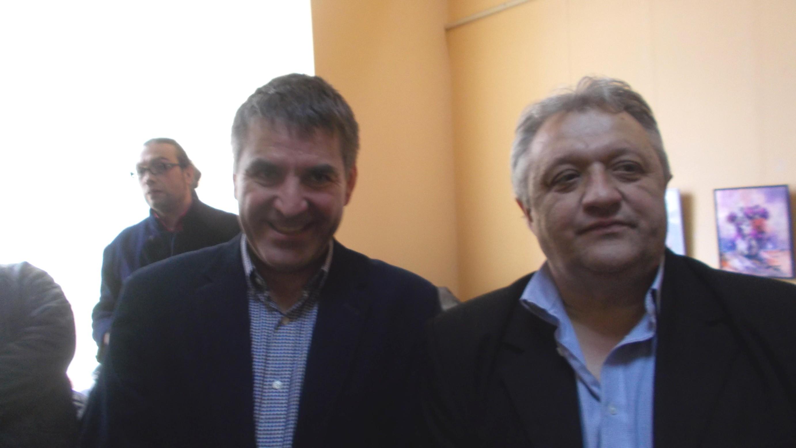 Primarul de Siret, Cristi Popopiu, şi de Calafindeşti, Loghin Saviuc