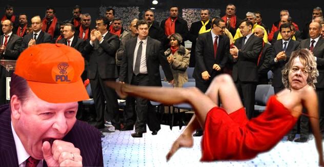 Eugen Uricec, trezindu-se, pe când era senator PDL: Waw!... Văd că se poartă roşul! Viorel Hrebenciuc: Gata, i-am căzut cu tronc la inimioară!
