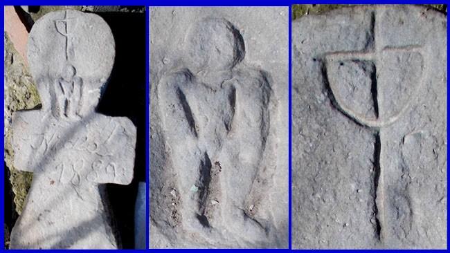 Piatra mormântală a stră-străbunicului Nicolae şi simbolurile ei