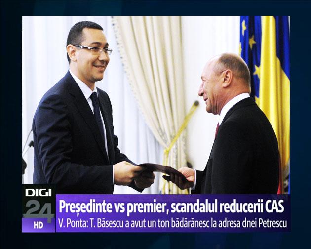 Traian Băsescu: Victor Viorel Ponta, atât mi-a mai rămas din România, dar ţi-o las ţie pe toată!