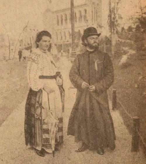 Pages de gloire 8 oct 1916 Bucovineni refugiati în Bucuresti preot si preoteasa