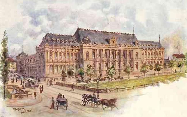 Palatul Justitiei Bucuresti MINERVA 1900